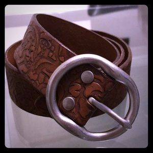 Lucky Brand Embossed Floral Belt